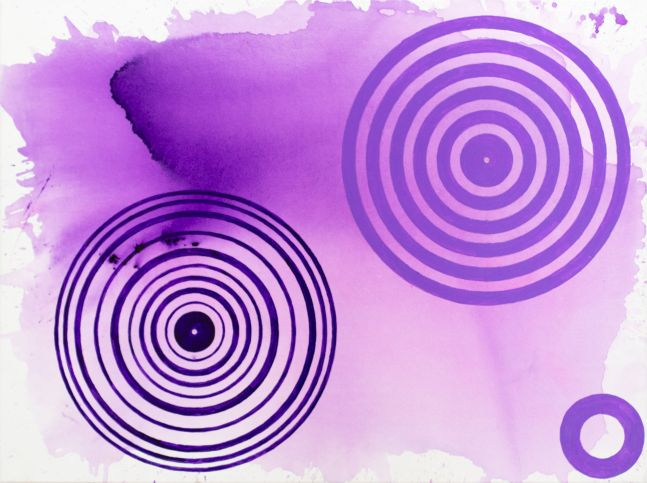 J. Steven Manolis, PurpleFields (Concentric),  2020, Acrylic on canvas, 48 x 36 inches, for sale at Manolis Projects Art Gallery