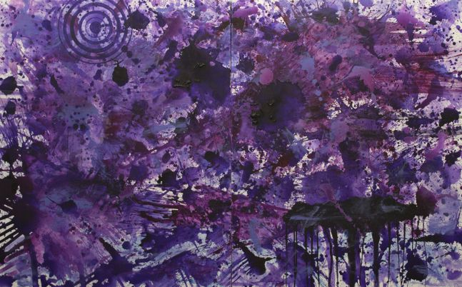 J. Steven Manolis, purplefiled, 2017, acrylic on canvas, 60 x 96 inches, for sale at Manolis Projects Art Gallery, Miami FL