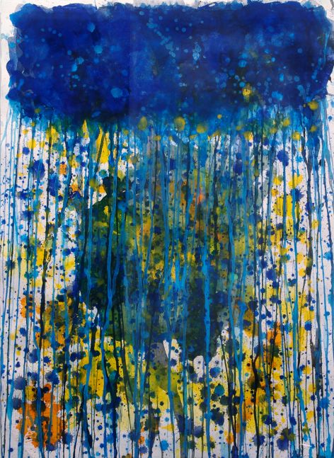 J. Steven Manolis, Jellyfish, 2010, Watercolor painting on Paper, 31 x 22 inches, Jellyfish paintings for sale