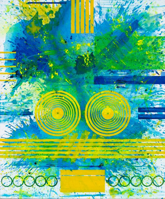 J. Steven Manolis, Palm Beach Light - 1300 Hours, 2019, Acrylic painting on canvas, 60 x 72 inches, Geometric Abstraction, Abstract expressionism art for sale at Manolis Projects Art Gallery, Miami, Fl