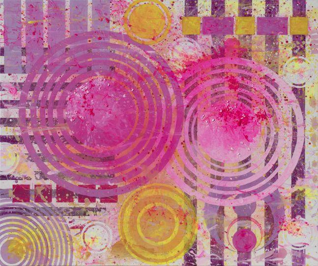 J. Steven Manolis, California Dreaming (Santa Catalina), 2018, Acrylic on canvas, 62 x 72 inches