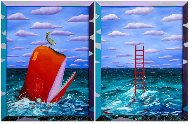 Craig Kucia, Untitled (Whale and Ladder), 2021