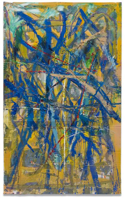 Spencer Lewis, Blue painting for the red and blue studio (cheetah), 2016-17