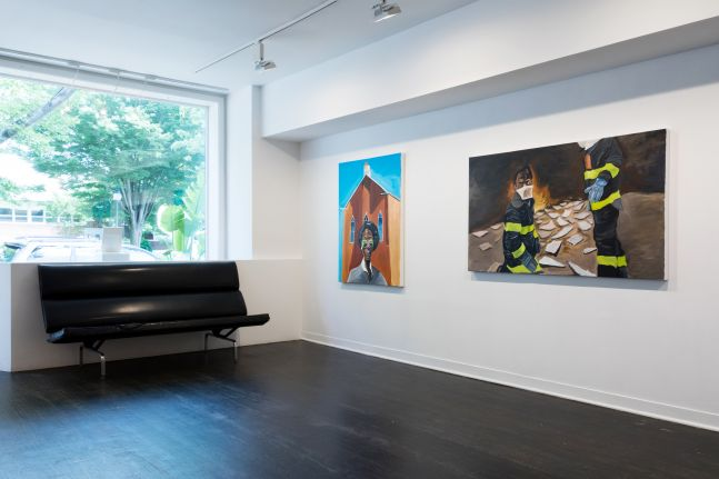 Marcus Brutus: Go To Work. Get Your Money and Come Home. You Don't Live There. installation view