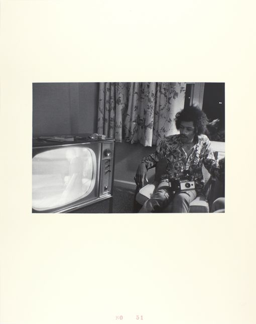 John Gossage, Jimi Hendrix, Hotel Room, DC, 1968, 1968/2009