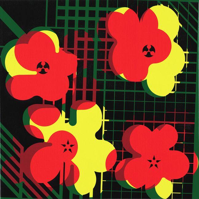 Ryan McGinness, Warhol Flower Icon (WFI.24.7), 2018