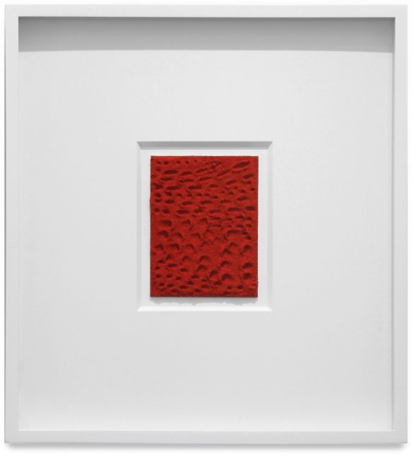 Jennifer Guidi, Untitled (Red Sand Dash and Dot), 2015
