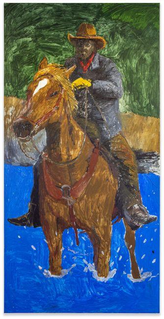 Matthew Chambers, Cowboy Forging the River, 2021
