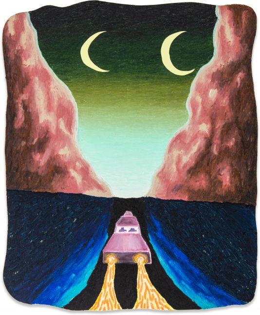 Eliot Greenwald, Night Car (lake)