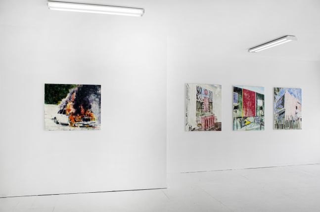 Enoc Perez: The Fires - installation view