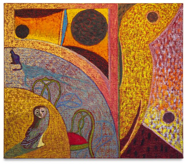 JJ Manford, Dreamt of an Owl in a Circular Room, 2020