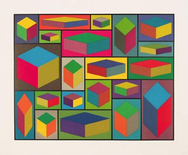 Sol Lewitt Distorted Cubes (C) 2001