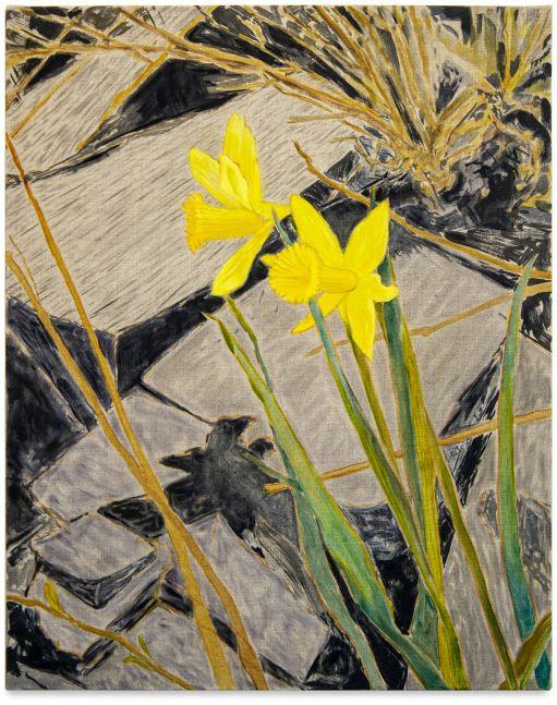 Hayley Barker, Roadside Daffodils, Slate, 2021