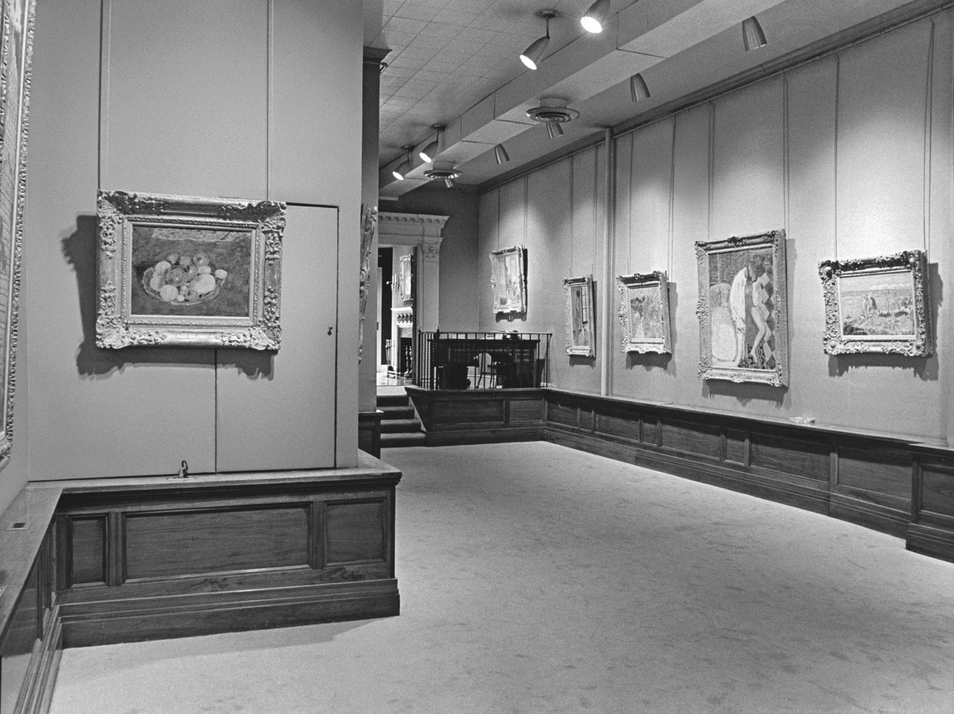 Installation view of Pierre Bonnard, on view at Acquavella Galleries from November 9 - December 11, 1965.