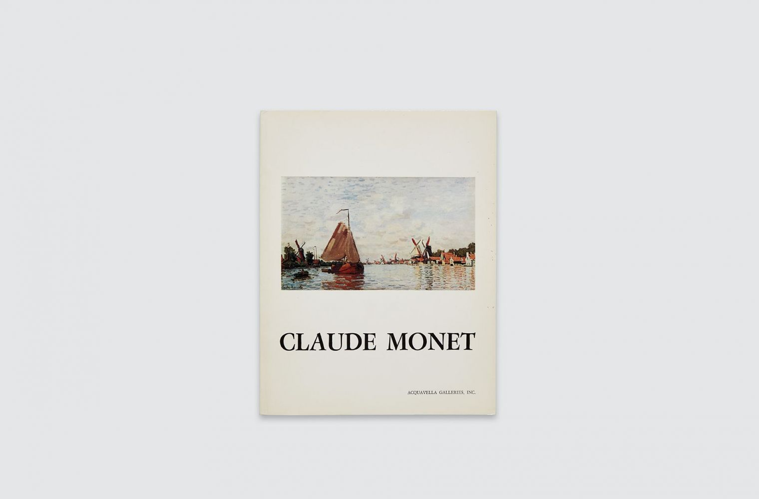 Catalogue for Claude Monet exhibition, fall 1976.
