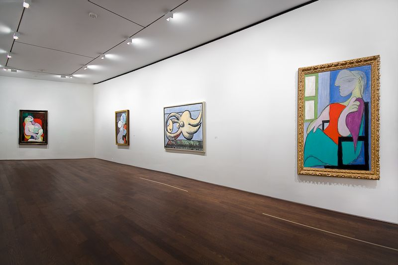 Installation view of Picasso's Marie-Therese