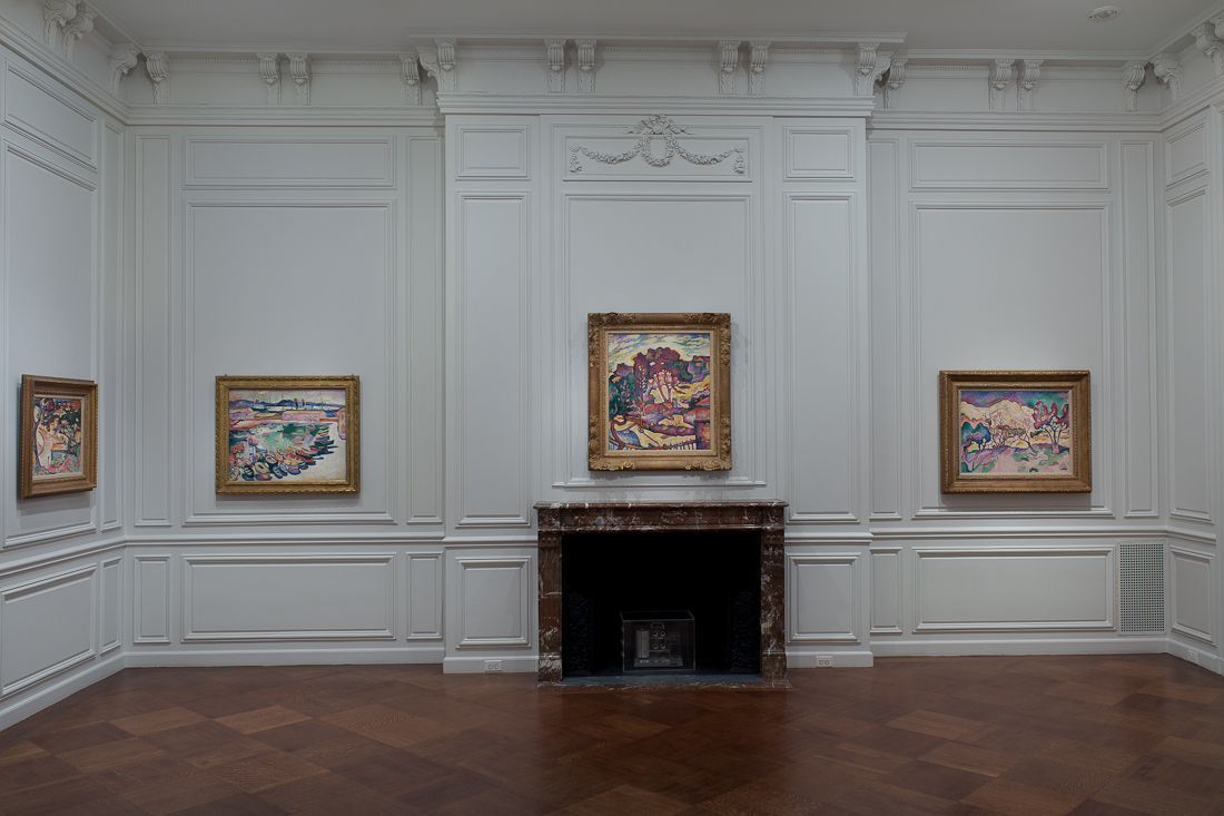 Installation view of Georges Braque