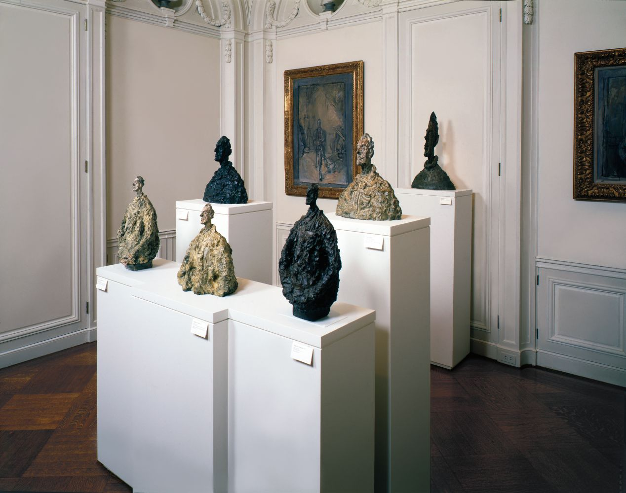 Instllation view of Alberto Giacometti exhibition, fall 1994. Art © Alberto Giacometti Estate / Licensed by VAGA and ARS, New York, NY.
