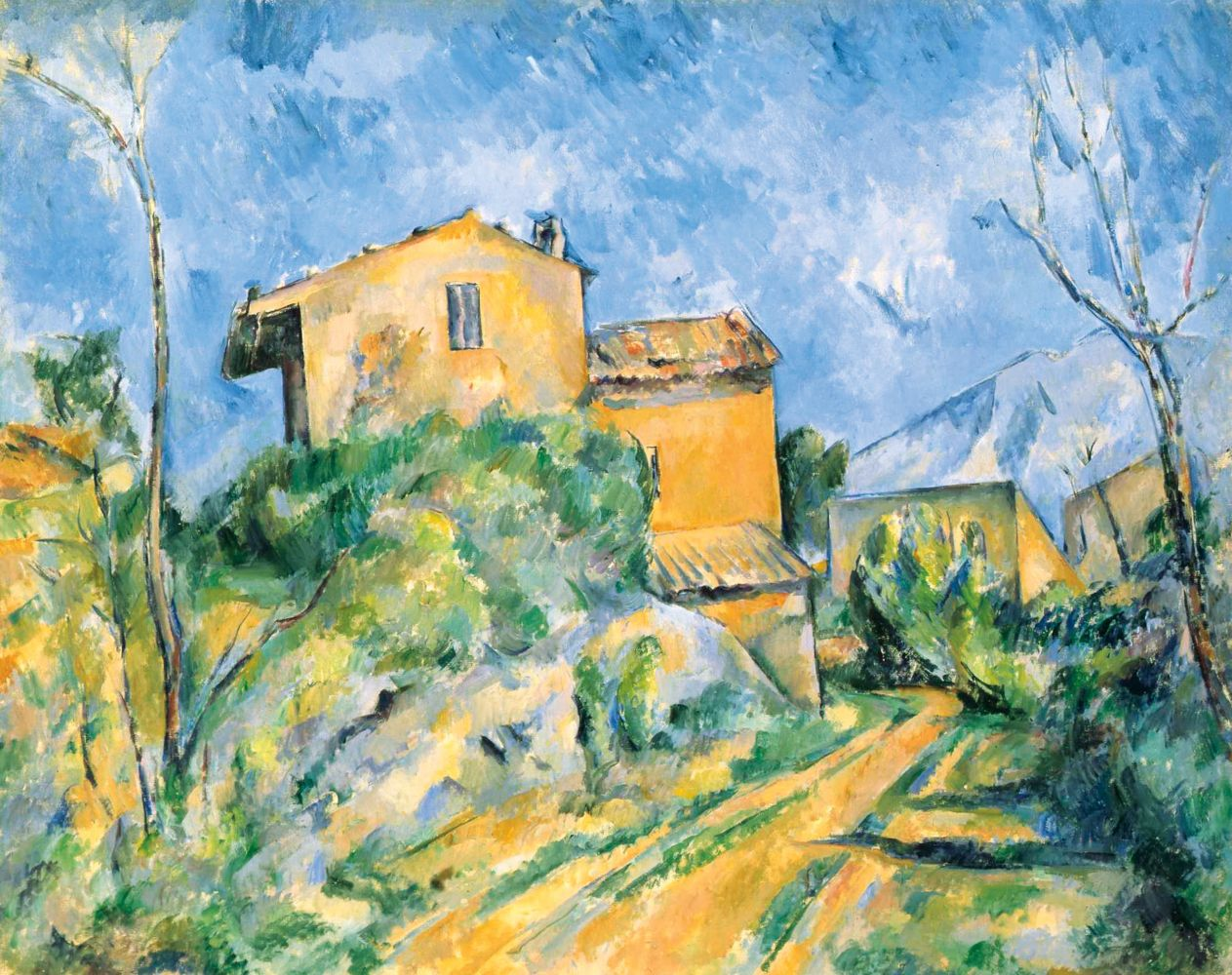 Paul Cézanne  Maison Maria with a View of Château Noir, c. 1895