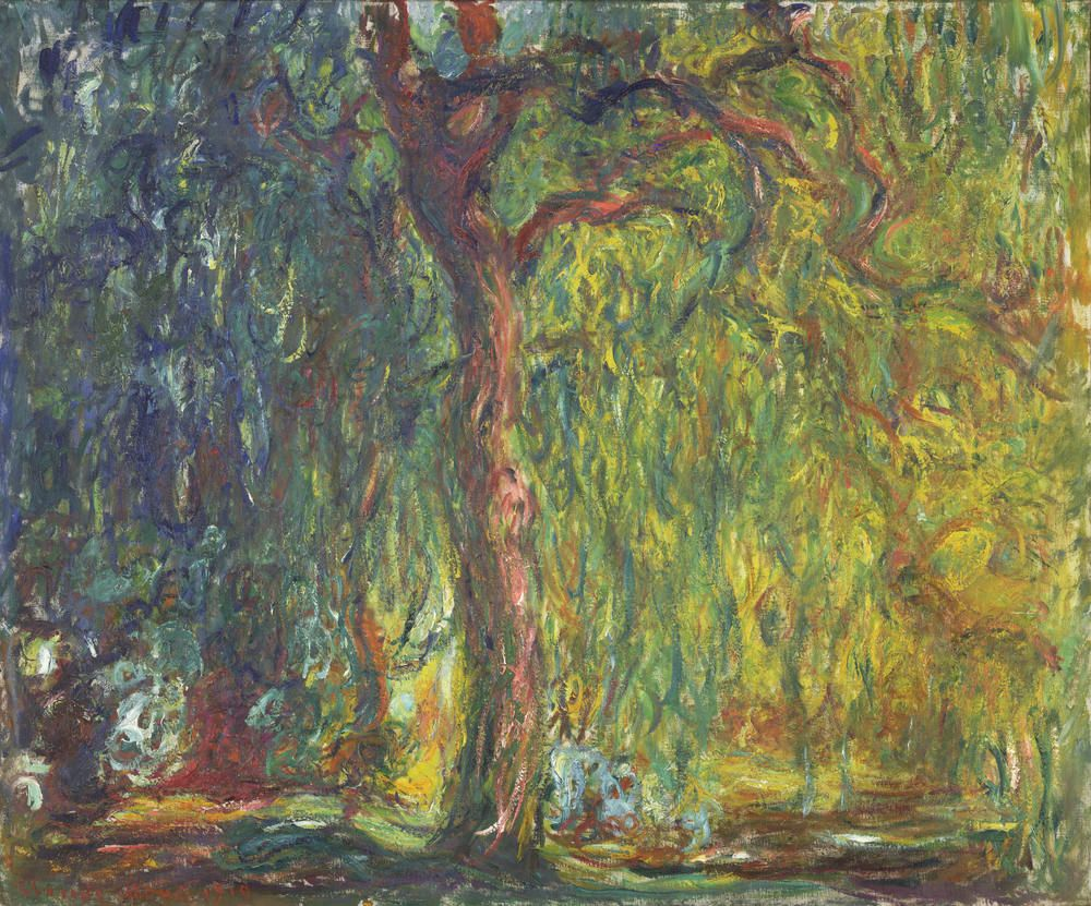 CLAUDE MONET  Weeping Willow, 1918-19