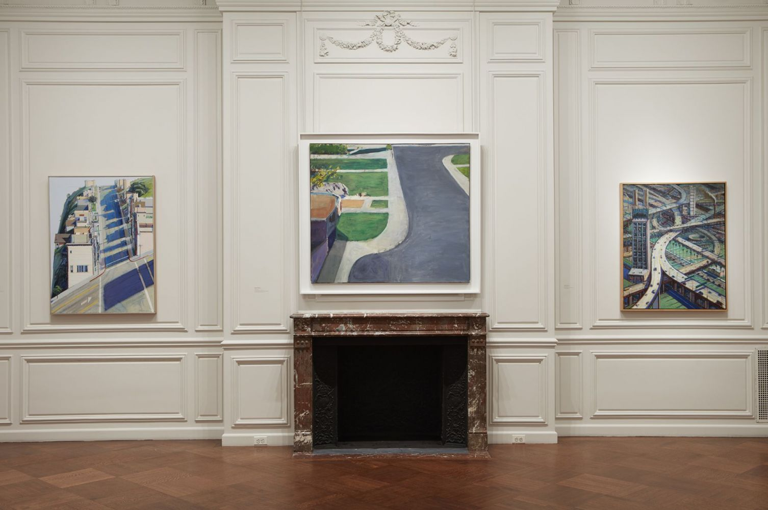 Installation view of California Landscapes: Richard Diebenkorn | Wayne Thiebaud, ​February 1 - March 16, 2018.