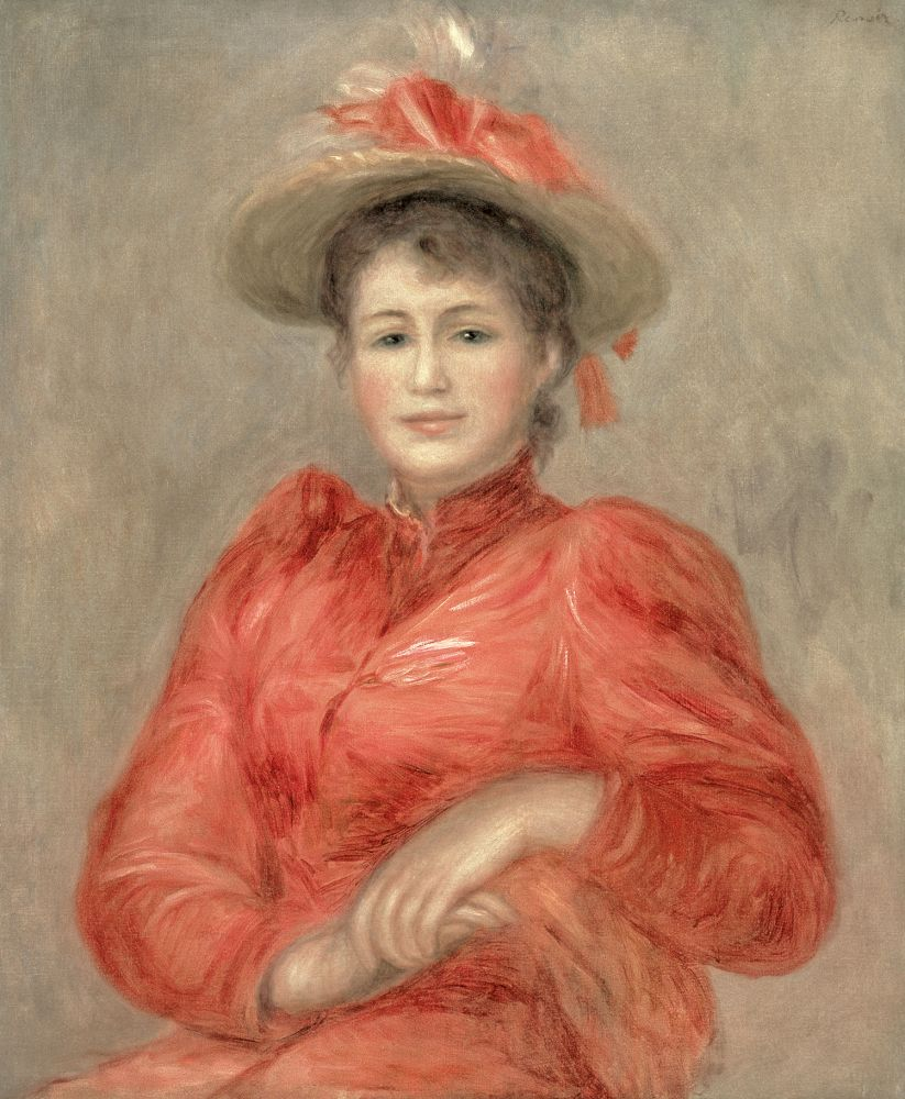 Pierre-Auguste Renoir  Young Woman in Red Dress, c. 1892