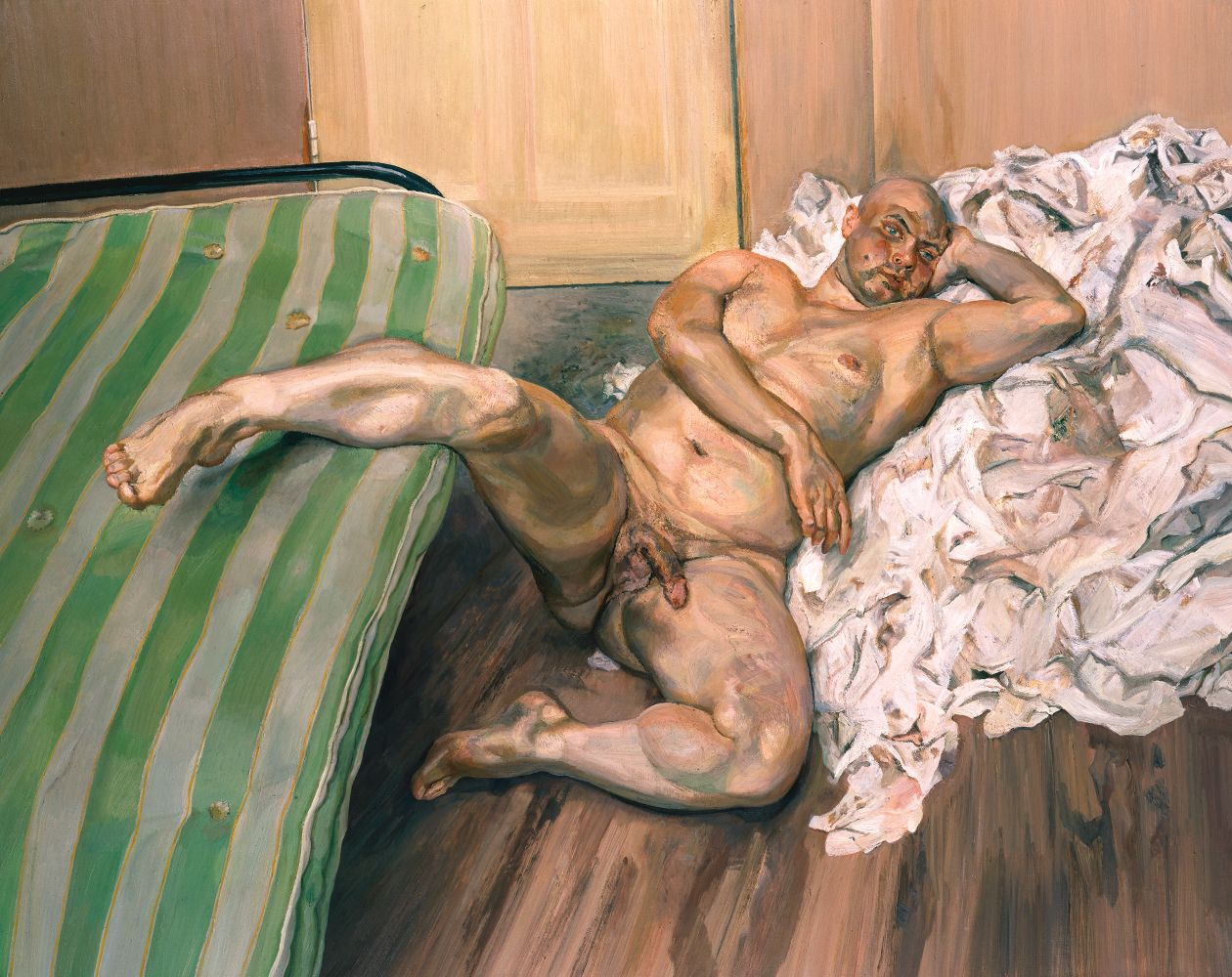 Freud Nude with Leg Up