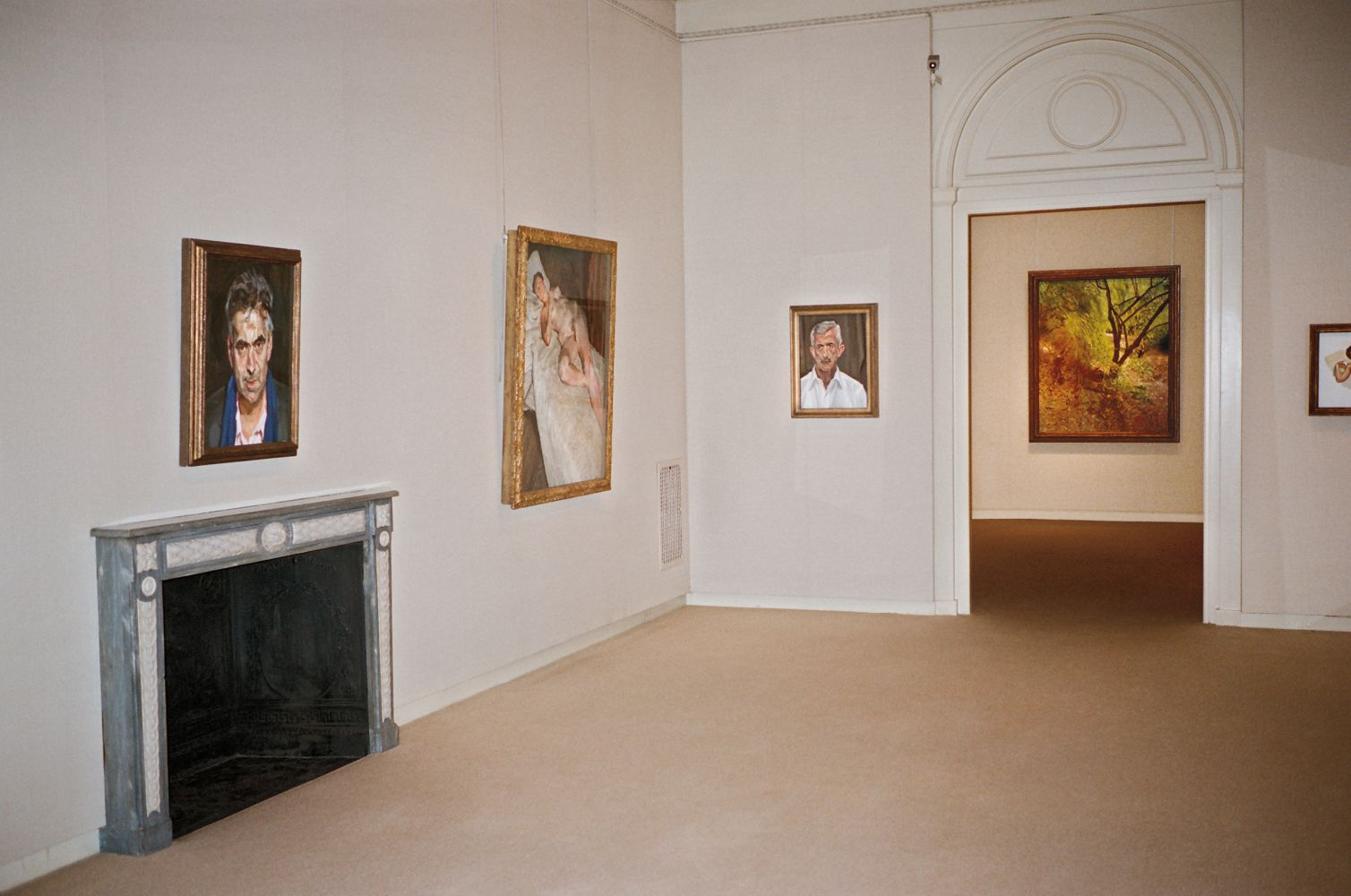 Installation view of Lucian Freud: Recent Work, 2006