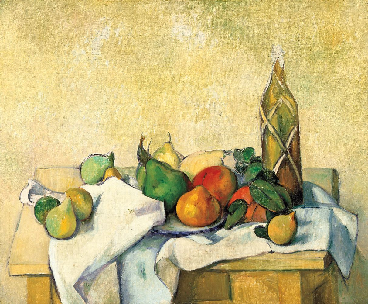Paul Cézanne  Still Life with Bottle, c. 1890