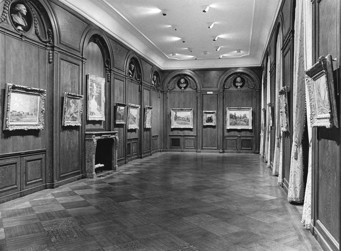 Installation view of Four Masters of Impressionism