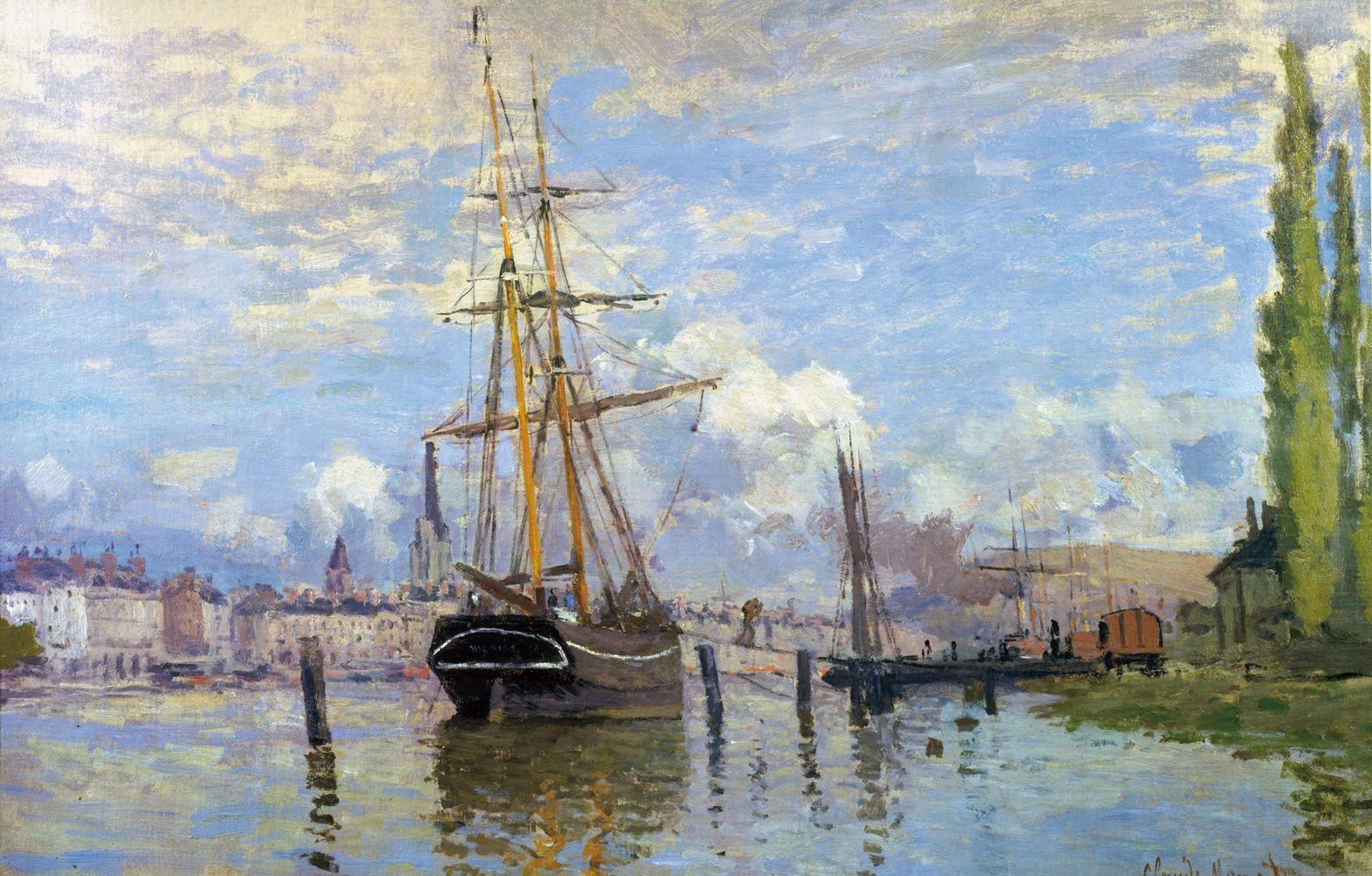 Claude Monet  La Seine à Rouen, 1872