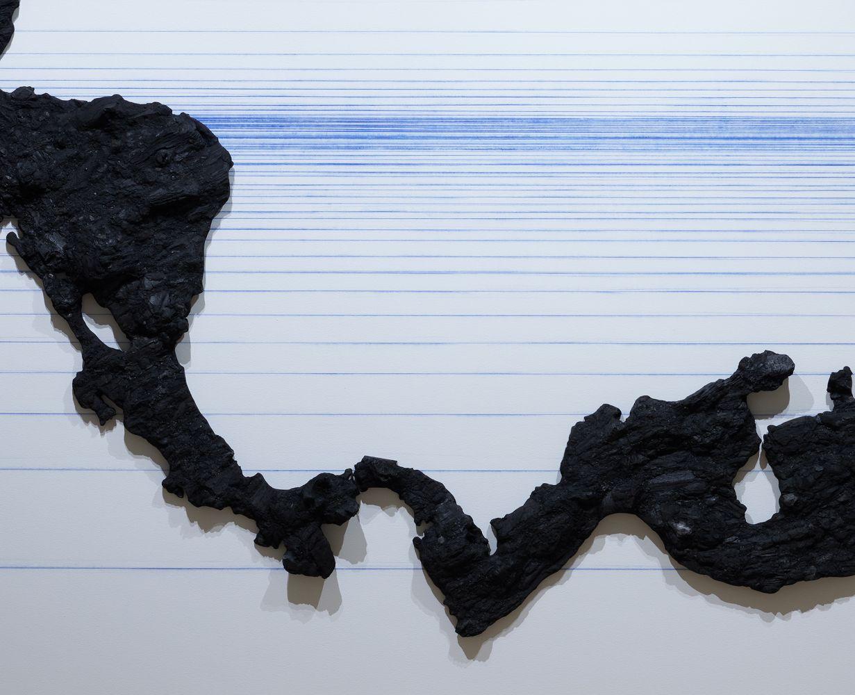 Teresita Fernández, Archipelago(Cervix), Installation view, detail