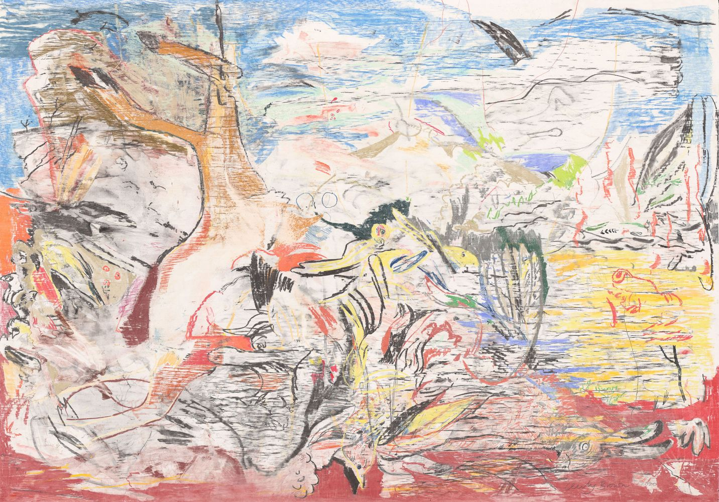 Cecily Brown, Untitled (Still Life in a Landscape), 2020