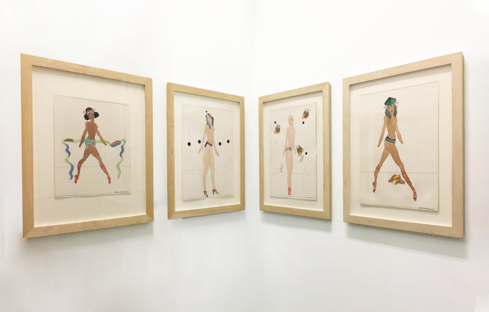 Installation view, 'WomanGirls' by Barbara Nessim