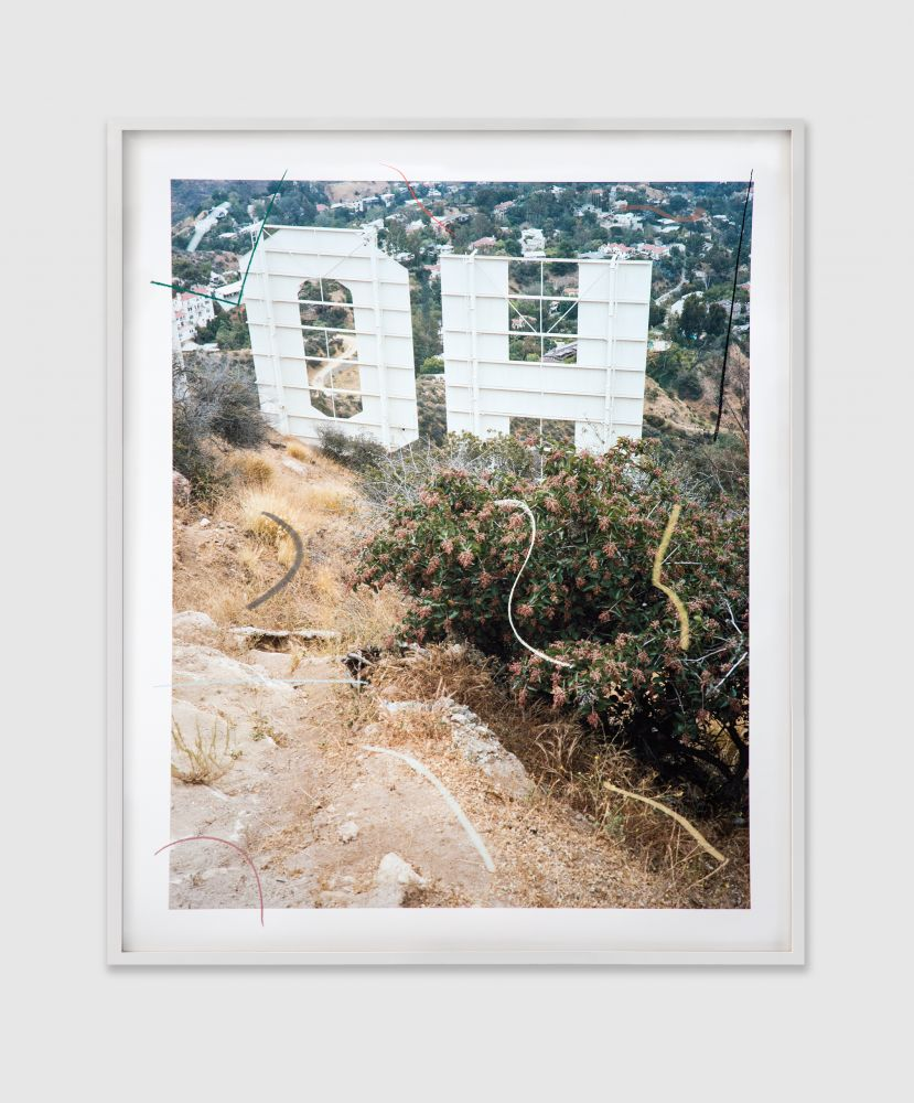 SAM FALLS  Untitled (Oh Hollywood) 2016 Pastel on archival pigment print  Image 152.5 x 137 cm / 60 x 54 in  Unique  FALLS42431