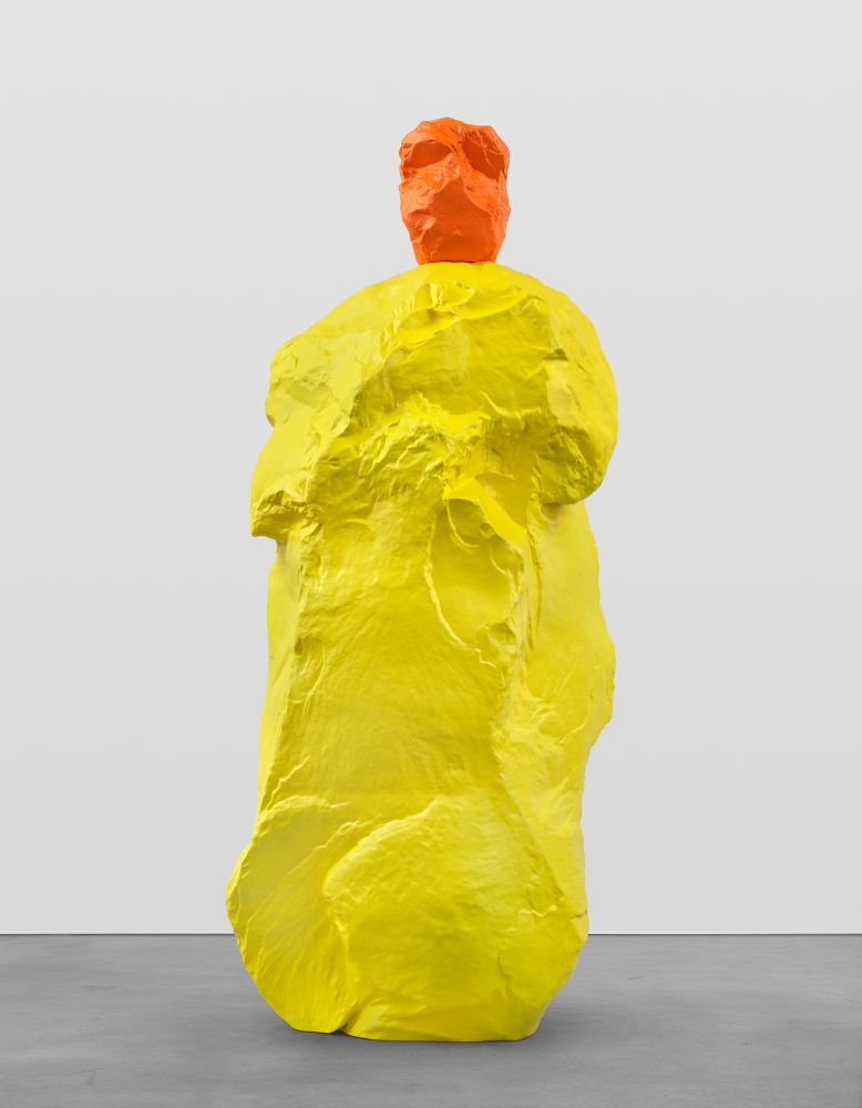 ORANGE YELLOW MONK  2020 Painted bronze  293.5 x 102 x 130.5 cm / 115 1/2 x 40 1/8 x 51 3/8 inches