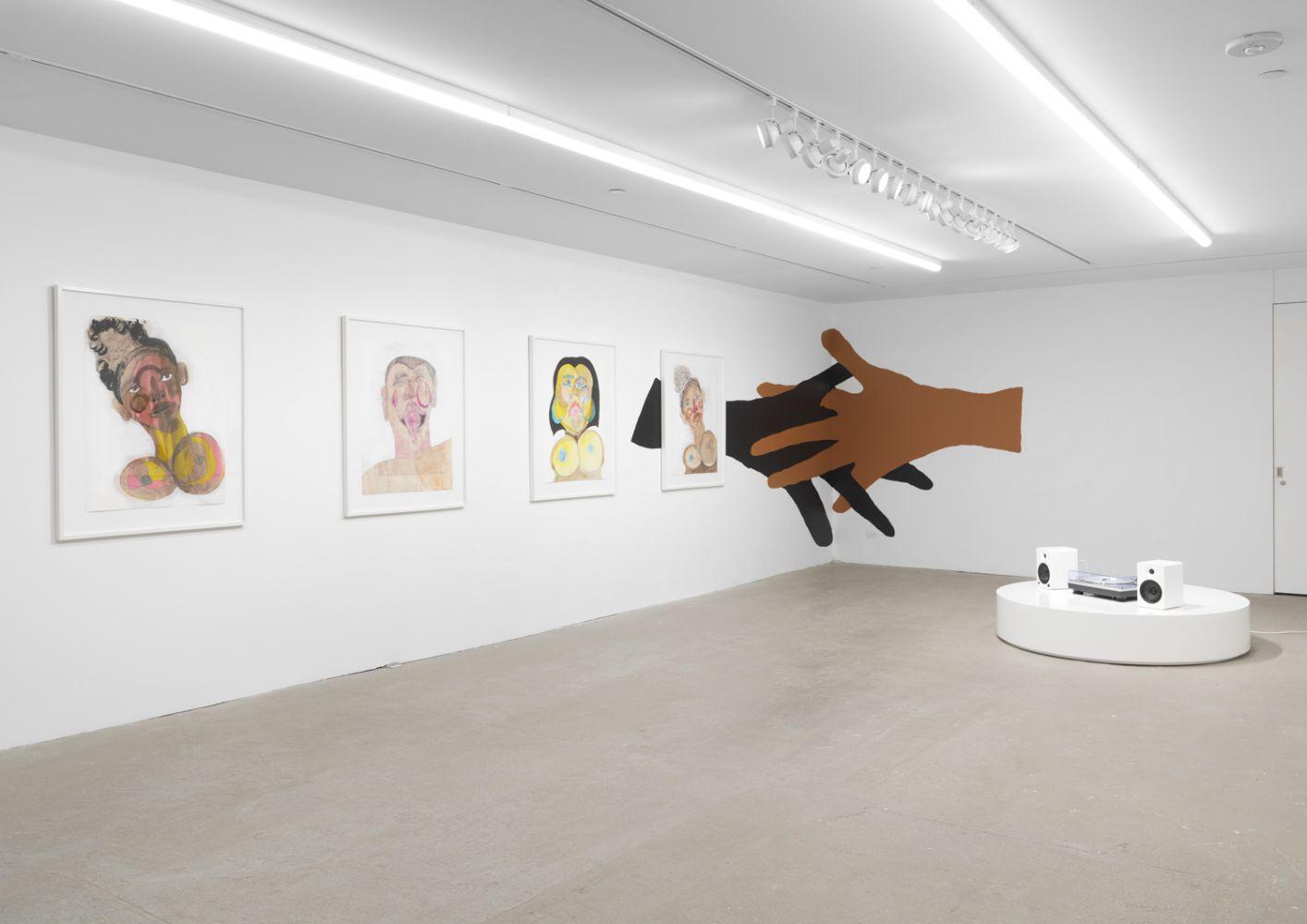Exhibition View, Tschabalala Self, Cotton Mouth, Eva Presenhuber, New York, 2020 install 14