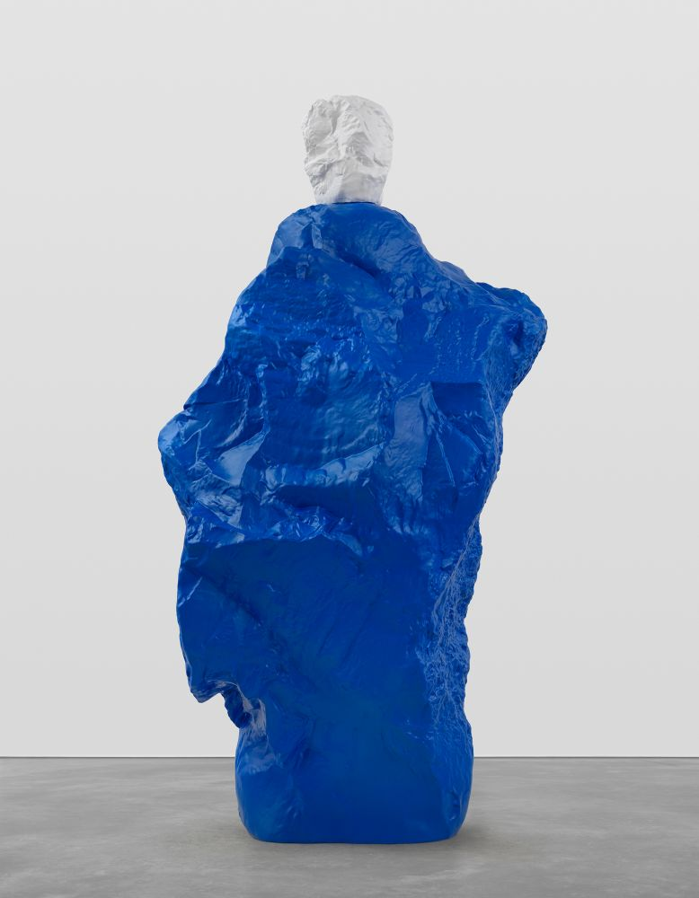 WHITE BLUE MONK  2020 Painted bronze  296.5 x 122 x 157 cm / 116 3/4 x 48 x 61 3/4 inches