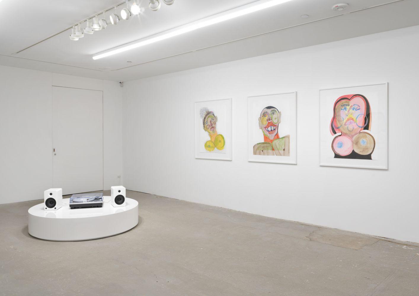 Exhibition View, Tschabalala Self, Cotton Mouth, Eva Presenhuber, New York, 2020 install 15
