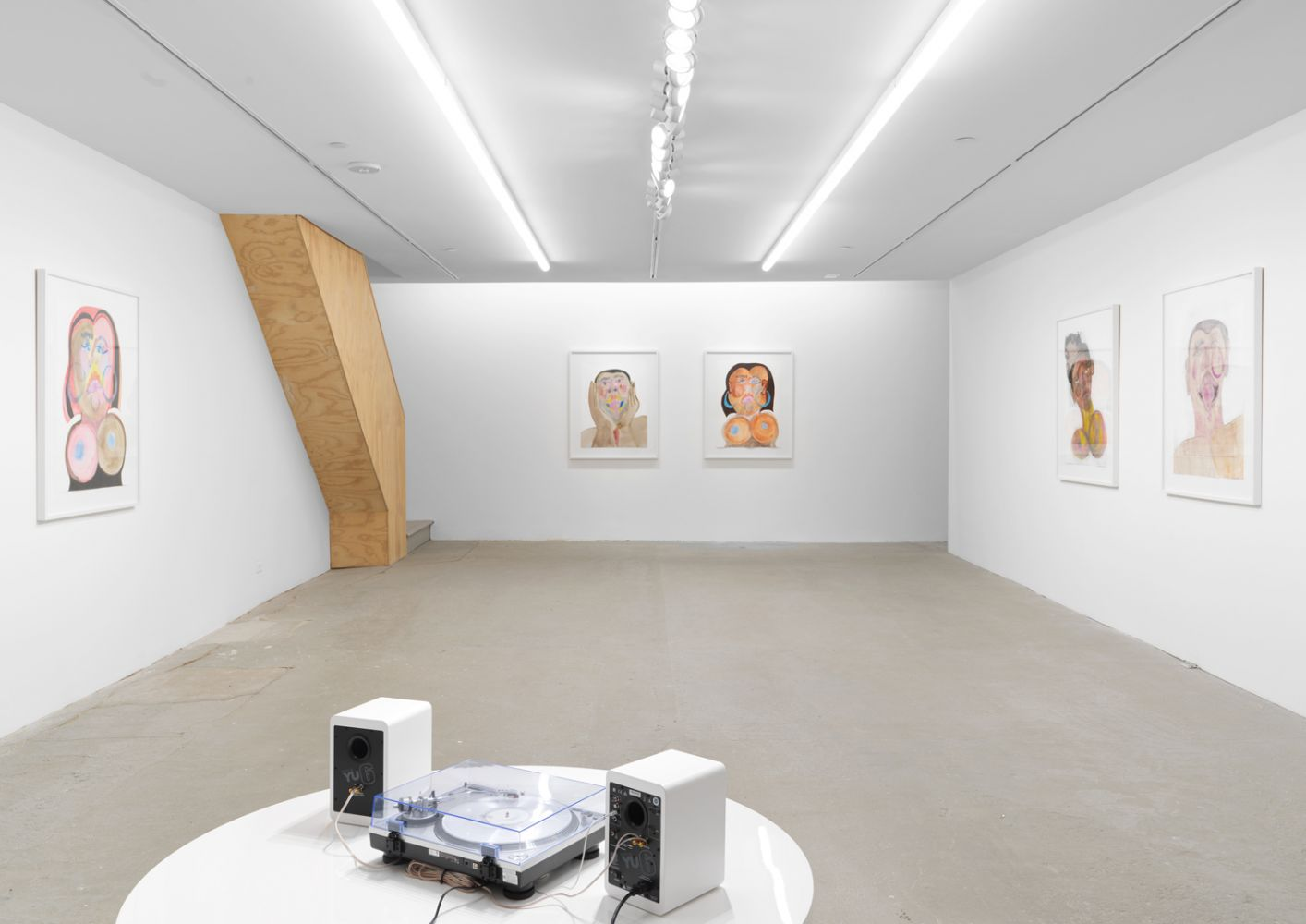 Exhibition View, Tschabalala Self, Cotton Mouth, Eva Presenhuber, New York, 2020 install 16