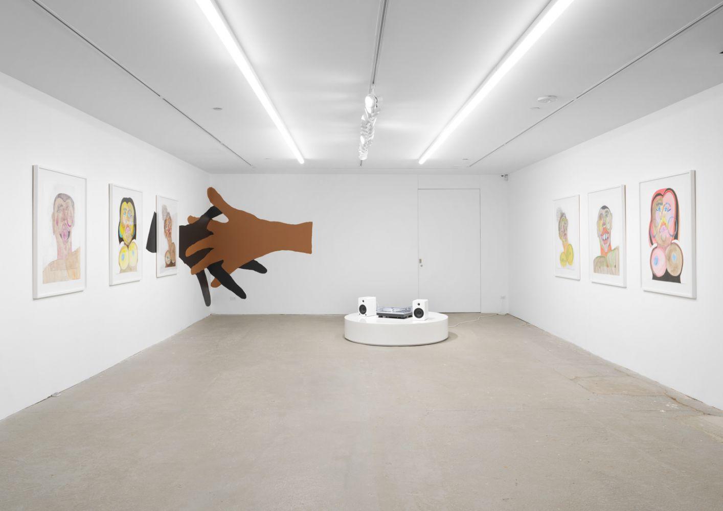Exhibition View, Tschabalala Self, Cotton Mouth, Eva Presenhuber, New York, 2020 install 13