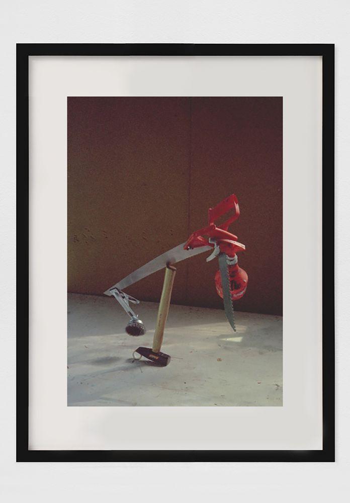 PETER FISCHLI / DAVID WEISS  Die missbrauchte Zeit (Equilibres–Serie)   1984 Chromogenic print, framed  Ed. 3/3  Image 40 x 30 cm / 15 3/4 x 11 3/4 in Frame 60 x 47 x 2.5 cm / 23 5/8 x 18 1/2 x 1 in  FISCW40013