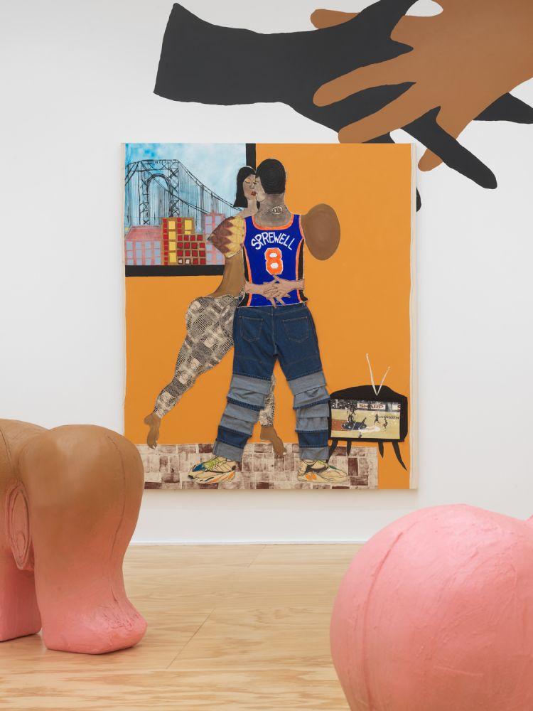 Exhibition View, Tschabalala Self, Cotton Mouth, Eva Presenhuber, New York, 2020 install 3