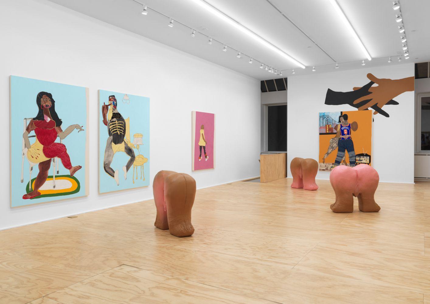 Exhibition View, Tschabalala Self, Cotton Mouth, Eva Presenhuber, New York, 2020 install 2
