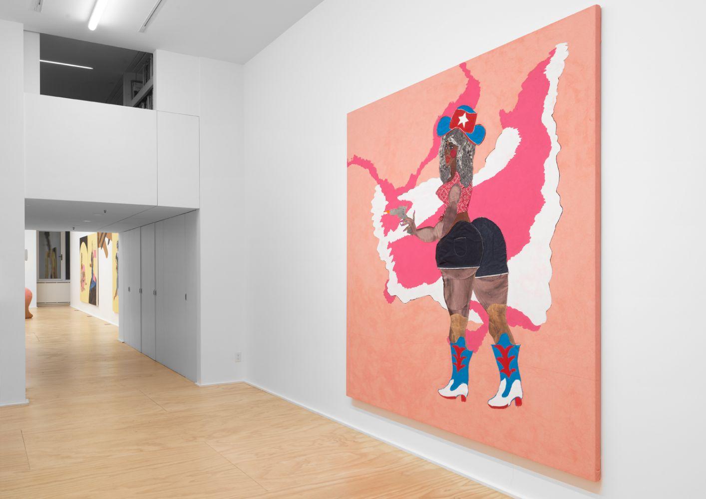 Exhibition View, Tschabalala Self, Cotton Mouth, Eva Presenhuber, New York, 2020 install 1
