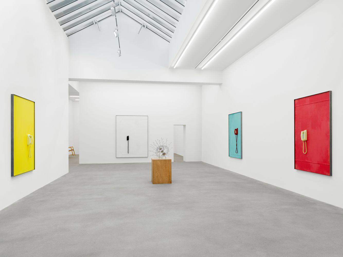 Exhibition View, Martin Boyce, No Longer Fathom, Galerie Eva Presenhuber, Zurich 2020 install 1