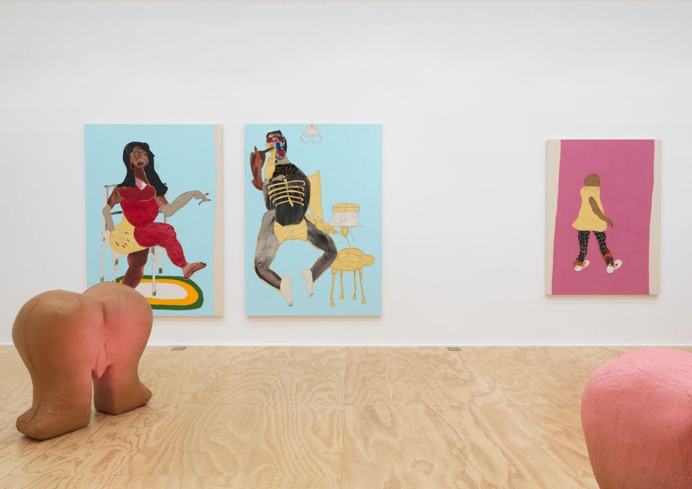 Exhibition View, Tschabalala Self, Cotton Mouth, Eva Presenhuber, New York, 2020 install 12
