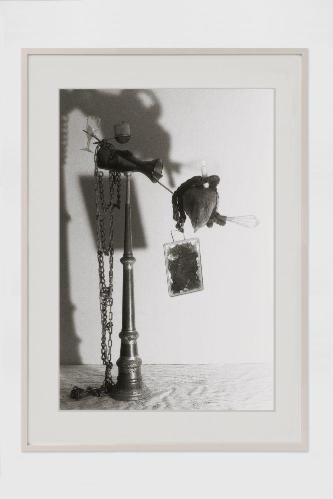 PETER FISCHLI / DAVID WEISS  Das gefrorene Herz (Equilibres–Serie)   1986 C-print, framed  Ed. 1/3  Image 45 x 30 cm / 17 3/4 x 11 3/4 in Frame 63 x 47 x 2.5 cm / 24 3/4 x 18 1/2 x 1 in  FISCW33661