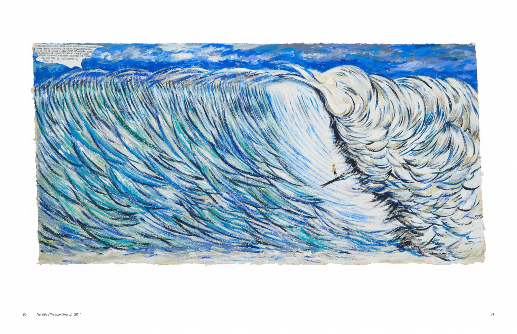 Interior view of Raymond Pettibon: Are Your Motives Pure?, published by Venus Over Manhattan, New York, 2014