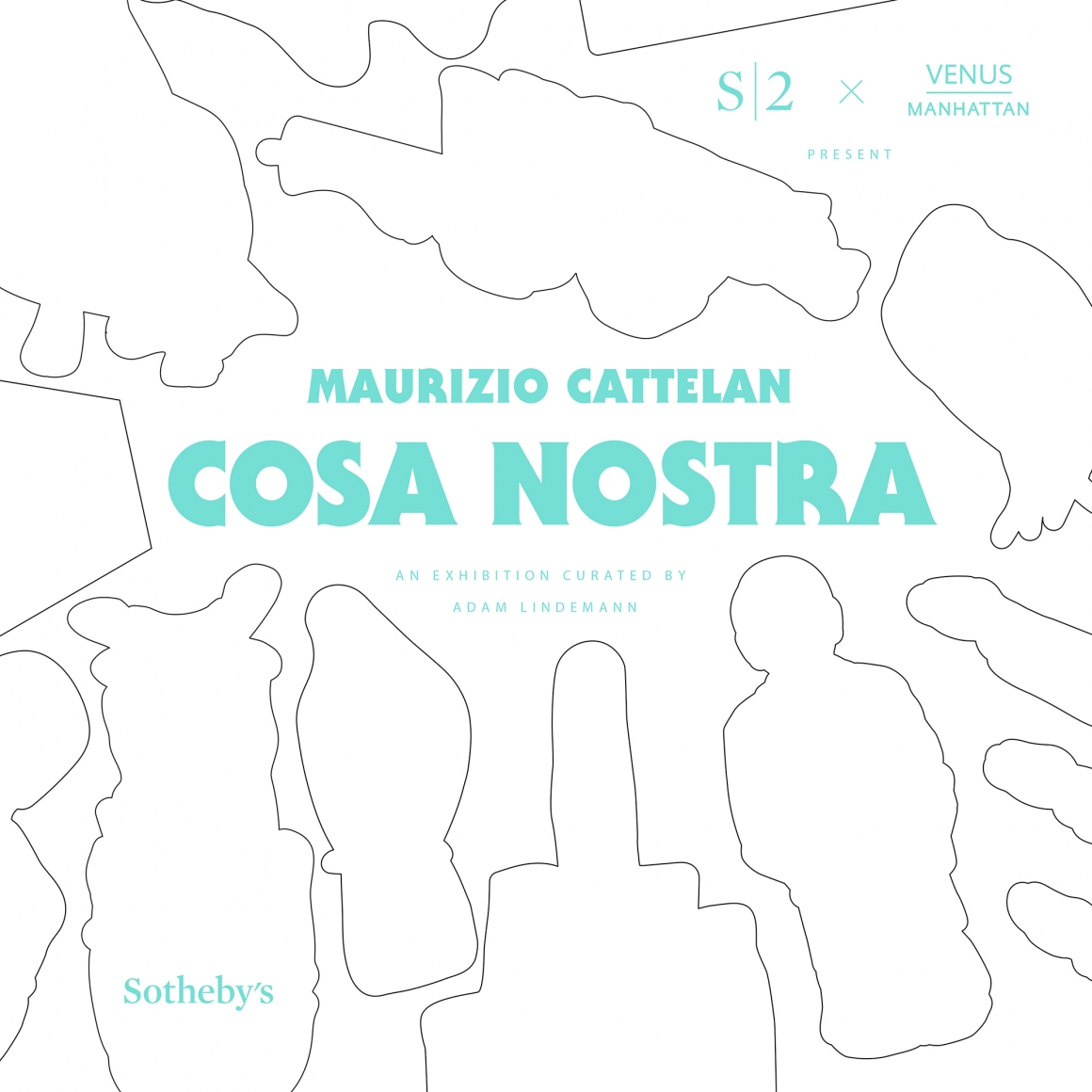 Cover of Maurizio Cattelan: Cosa Nostra, published by Venus Over Manhattan and Sotheby's S|2, New York, 2014